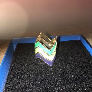 Three Enamel Vintage Stackable Rings in 3 colors.